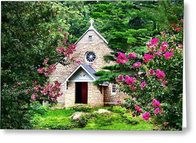 Concord Greeting Cards - Church in the Wild Wood Greeting Card by Nadine Lewis