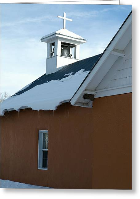 Gia Marie Houck Greeting Cards - Church in Vallecitos New Mexico Greeting Card by Gia Marie Houck