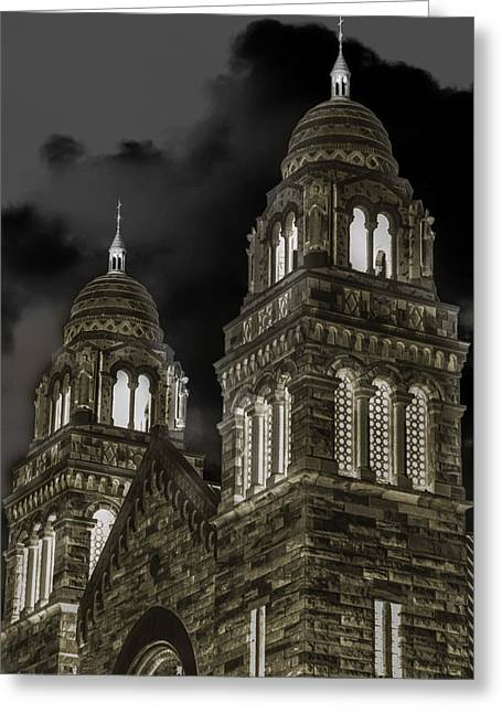 Bible Mixed Media Greeting Cards - Church Lights on St. Peter Cathedral Greeting Card by Optical Playground By MP Ray