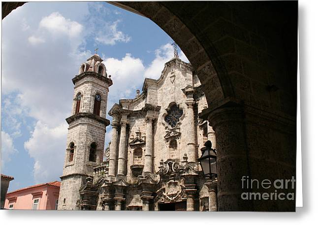 Saint Christopher Greeting Cards - Church Greeting Card by Maurizio Biso