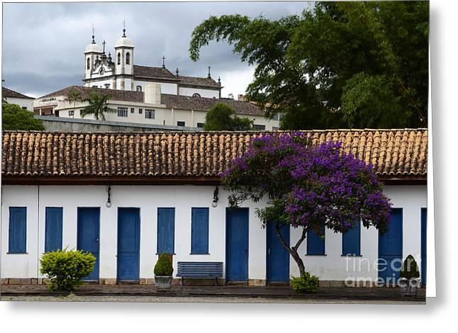 Mariana Greeting Cards - Church Minas Gerais State Brazil 2 Greeting Card by Bob Christopher