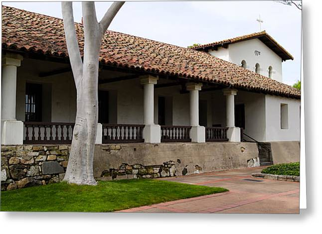 San Luis Obispo Greeting Cards - Church, Mission San Luis Obispo, San Greeting Card by Panoramic Images