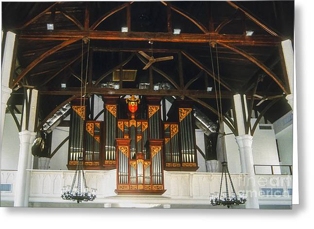 Church Fixture Greeting Cards - Church of Christ Organ Greeting Card by Bob Phillips
