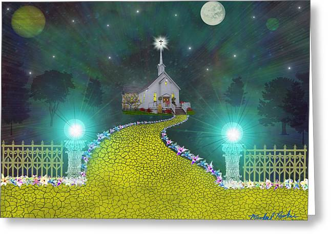 Pearly Gates Greeting Cards - Church of God Greeting Card by Michael Rucker