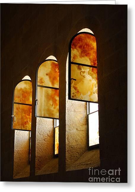 Church Of Heptapegon In Israel Greeting Card by Eva Kaufman
