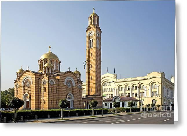 Church Of Jesus The Saviour Greeting Card by Ladi  Kirn