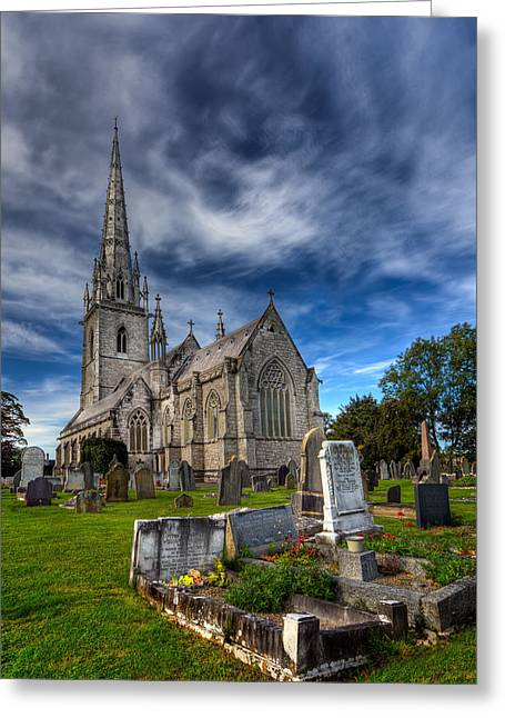 Gravestones Greeting Cards - Church of Marble Greeting Card by Adrian Evans