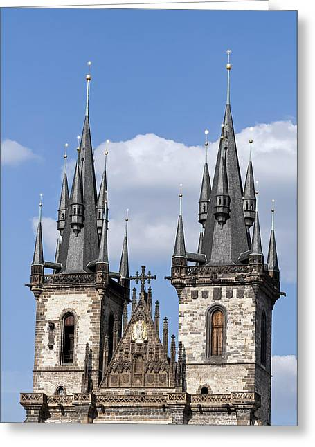 Prague Church Greeting Cards - Church of our Lady. Greeting Card by Fernando Barozza