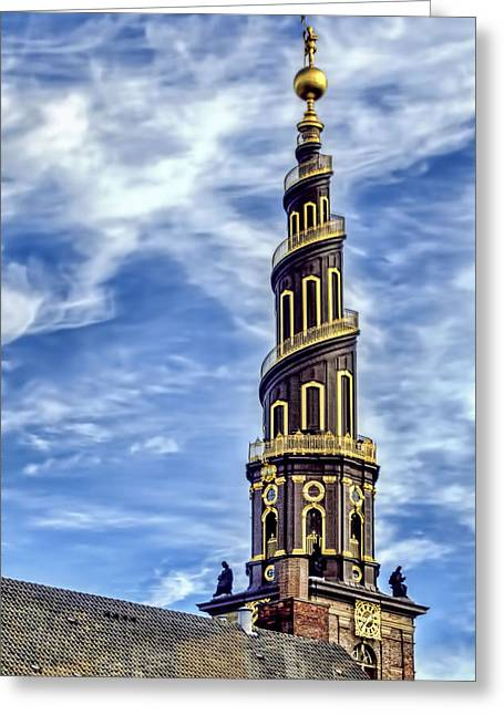 Wooden Ship Photographs Greeting Cards - Church Of Our Savior - Copenhagen Denmark Greeting Card by Jon Berghoff