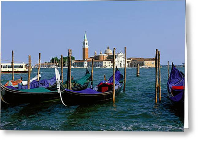 Placid Blue Greeting Cards - Church Of San Giorgio Maggiore Greeting Card by Panoramic Images
