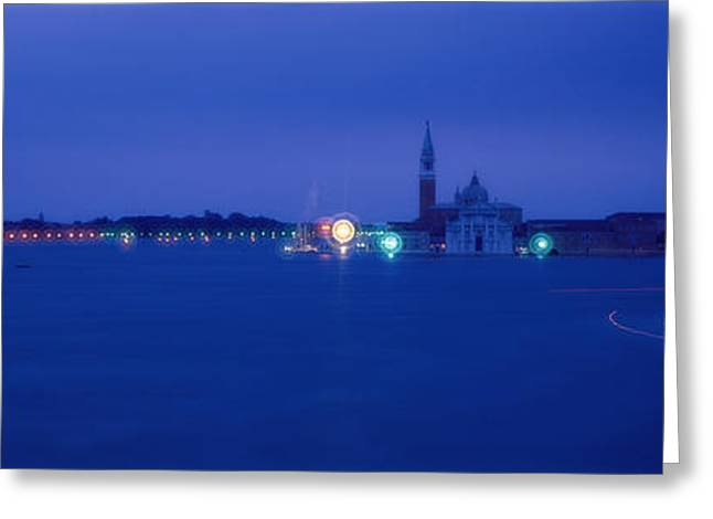Placid Blue Greeting Cards - Church Of San Giorgio Maggiore Venice Greeting Card by Panoramic Images