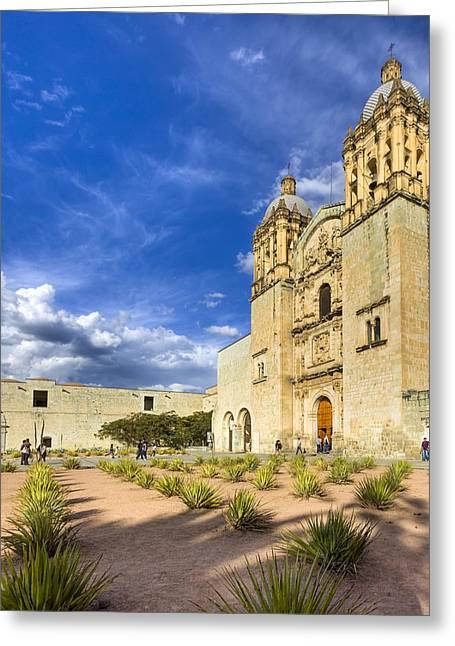 Oaxaca Greeting Cards - Church of Santo Domingo de Guzman in Oaxaca Greeting Card by Mark Tisdale