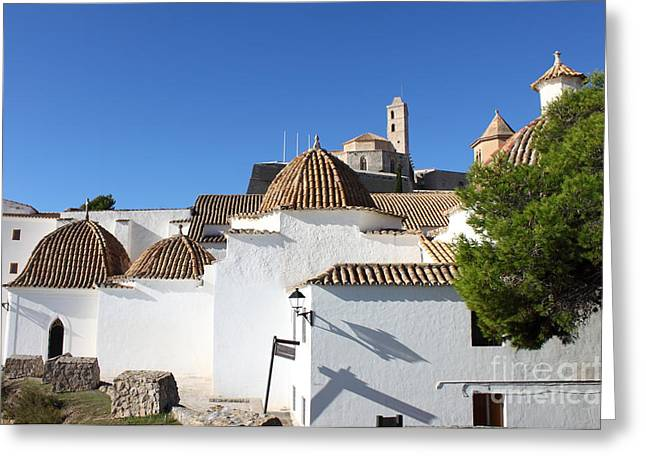 Dalt Greeting Cards - Church of Santo Domingo in Ibiza Greeting Card by Alessandro Russo