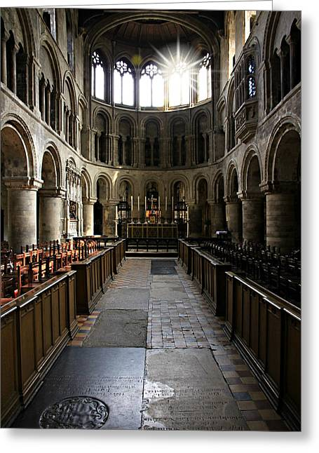 Altar Picture Greeting Cards - Church of St Bartholomew the Great Greeting Card by Stephen Stookey