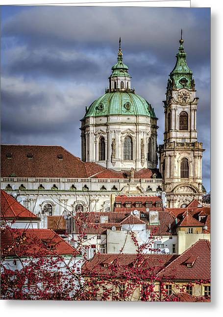 Religion Greeting Cards - Church of St Nicholas Greeting Card by Joan Carroll
