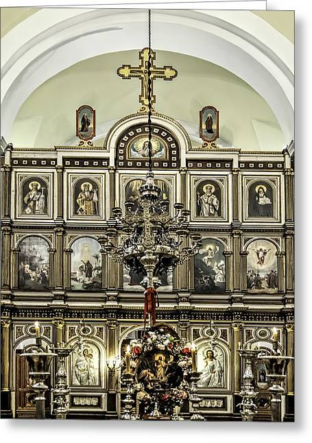 Historical Pictures Greeting Cards - Church of St. Nicholas Greeting Card by Maria Coulson