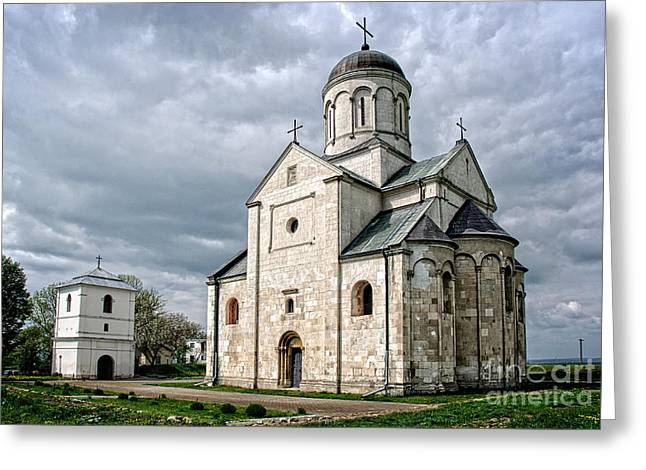 Medieval Temple Greeting Cards - Church of St. Panteleimon in Halych Greeting Card by Ihor Bodnar