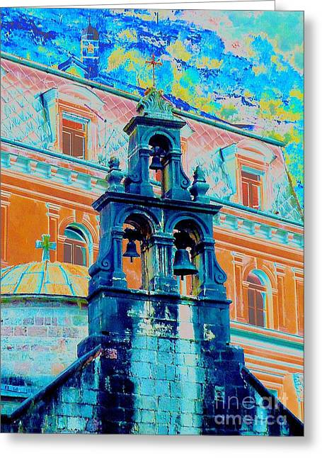 Holy Ring Greeting Cards - Church of Sveti Luka Kotor Montenegro Greeting Card by Ann Johndro-Collins