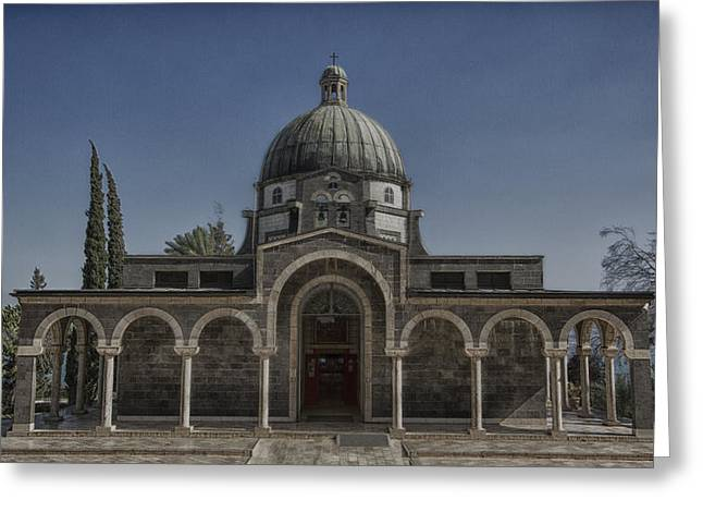 Historic Site Greeting Cards - Church of the Beatitudes Greeting Card by Stephen Stookey
