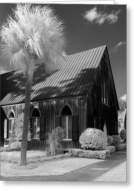 South Carolina Infrared Landscape Greeting Cards - Church of the Cross 2 Greeting Card by Bruce Siulinski