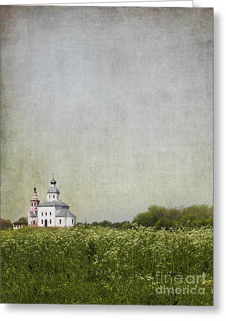 The Church Greeting Cards - Church of the Epiphany Suzdal Greeting Card by Elena Nosyreva