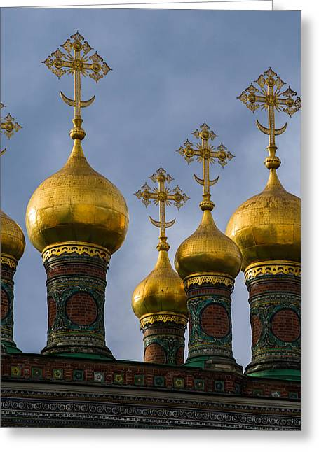 Civilization Greeting Cards - Church Of The Nativity Of Moscow Kremlin - Square Greeting Card by Alexander Senin