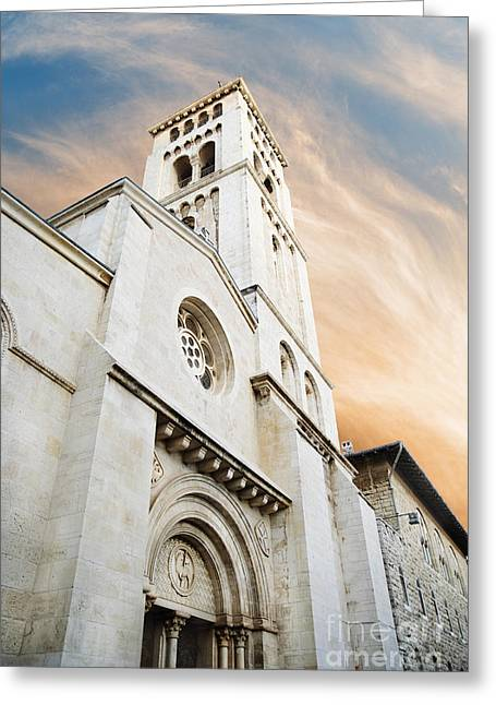Skies Pyrography Greeting Cards - Church of the Redeemer in Jerusalem Greeting Card by Jelena Jovanovic