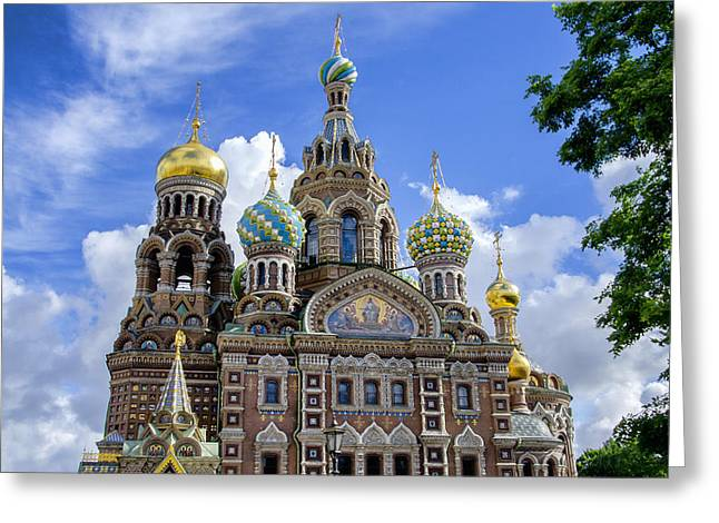 Church On Spilled Blood Greeting Cards - Church of the Spilled Blood - St Petersburg Russia Greeting Card by Jon Berghoff