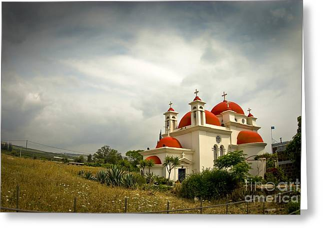 Holyland Greeting Cards - Church of the Twelve Apostles Greeting Card by Dan Yeger