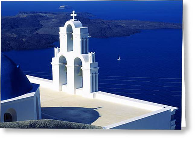 Agios Greeting Cards - Church On An Island, Agios Theodoros Greeting Card by Panoramic Images