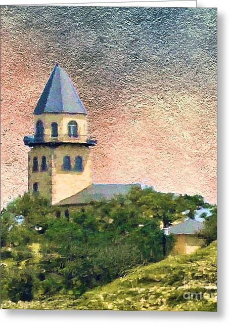 Fredricksburg Greeting Cards - Church on Hill Greeting Card by Janette Boyd
