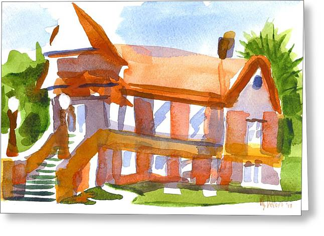 Pleinair Greeting Cards - Church on Shepherd Street 4 Greeting Card by Kip DeVore