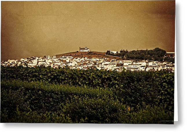 The Hills Digital Art Greeting Cards - Church on The Hill - Andalusia Greeting Card by Mary Machare