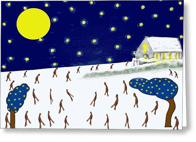 Chapel Mixed Media Greeting Cards - Church On The Hill Greeting Card by Patrick J Murphy