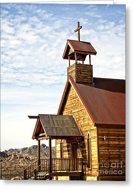 The Wooden Cross Greeting Cards - Church on the Mount Greeting Card by Lee Craig