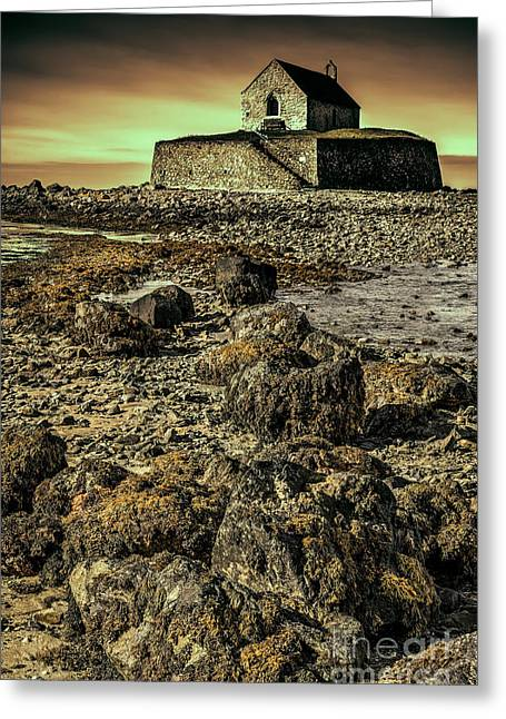 The North Digital Art Greeting Cards - Church on the Rock Greeting Card by Adrian Evans