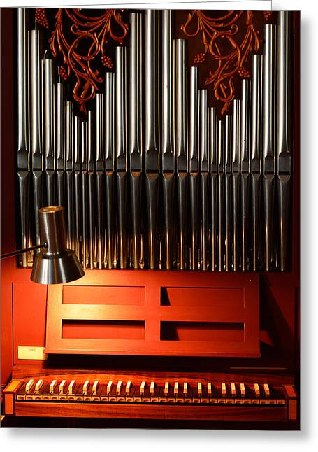 Organist Greeting Cards - Church organ Greeting Card by Toppart Sweden