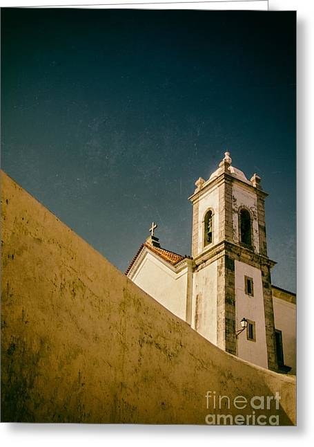 Old Churches Greeting Cards - Church over Wall Greeting Card by Carlos Caetano