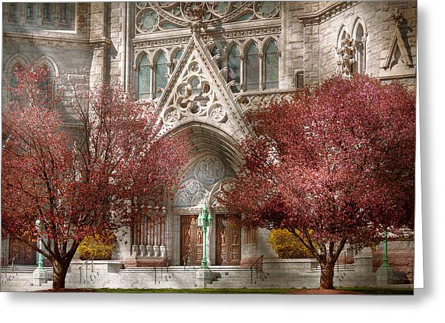 Church - Psalm One To Talk To Greeting Card by Mike Savad