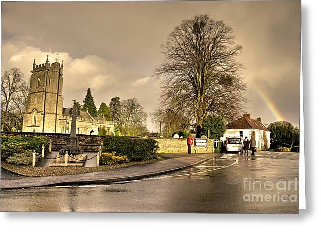 Bradford Greeting Cards - Church Rainbow  Greeting Card by Rob Hawkins