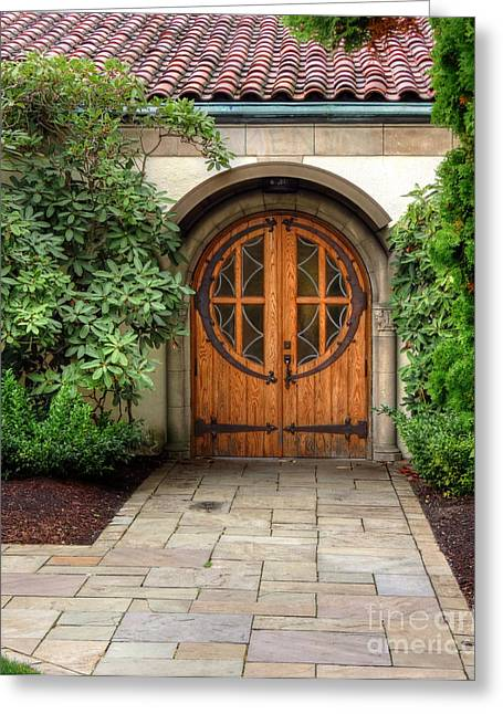 Church Side Door Greeting Card by Chris Anderson