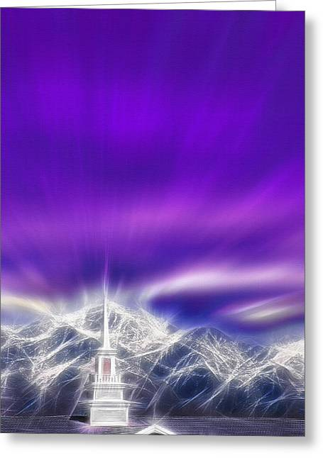 Steeple Mixed Media Greeting Cards - Church Steeple - Religious Freedom Greeting Card by Steve Ohlsen
