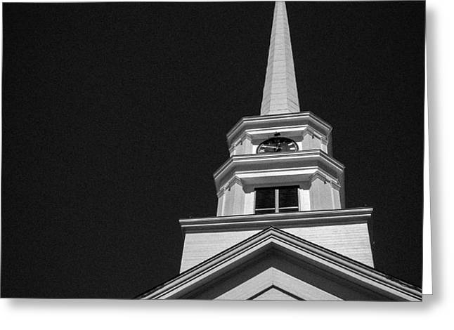 Church Steeple Stowe Vermont Greeting Card by Edward Fielding