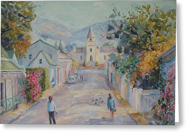 Reform Paintings Greeting Cards - Church Street Montagu Greeting Card by Elinor Fletcher