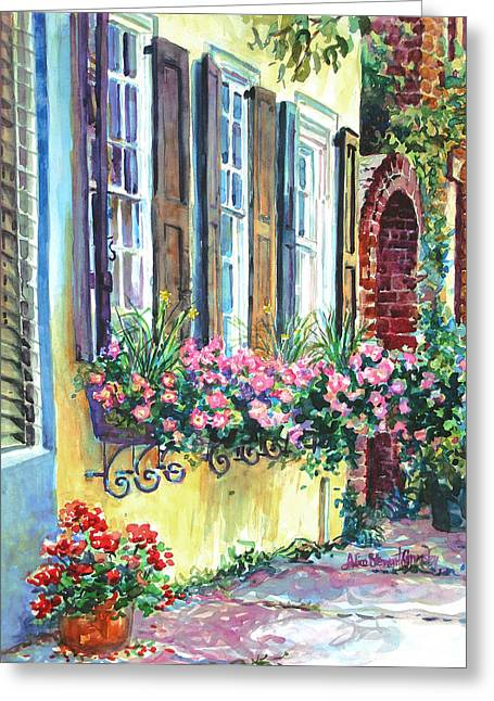 Spectrum Greeting Cards - Church Street Textures Greeting Card by Alice Grimsley