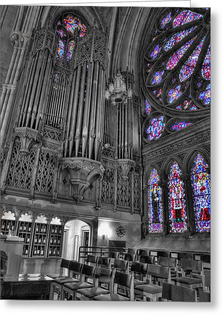 Church Music Greeting Cards - Church - The Cathedral of Dreams II Greeting Card by Lee Dos Santos