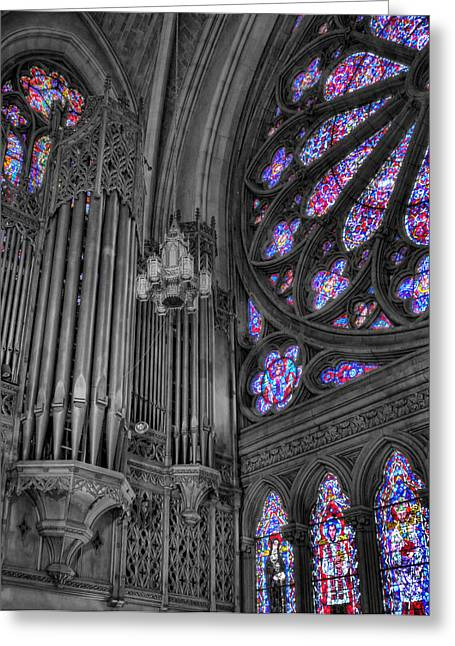 Music Time Greeting Cards - Church - The Cathedral of Dreams Greeting Card by Lee Dos Santos