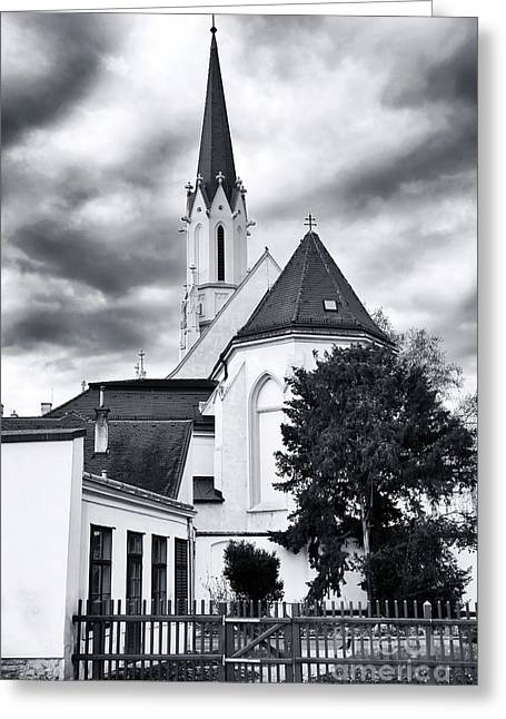Art For Church Greeting Cards - Church Top in Vienna Greeting Card by John Rizzuto