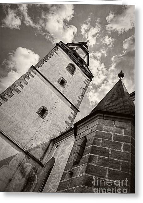 Greeting Cards - Church Tower Greeting Card by Martin Dzurjanik