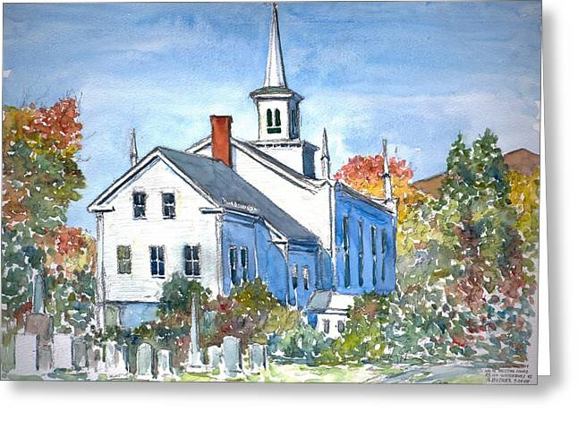 Old Churches Greeting Cards - Church Vermont Greeting Card by Anthony Butera